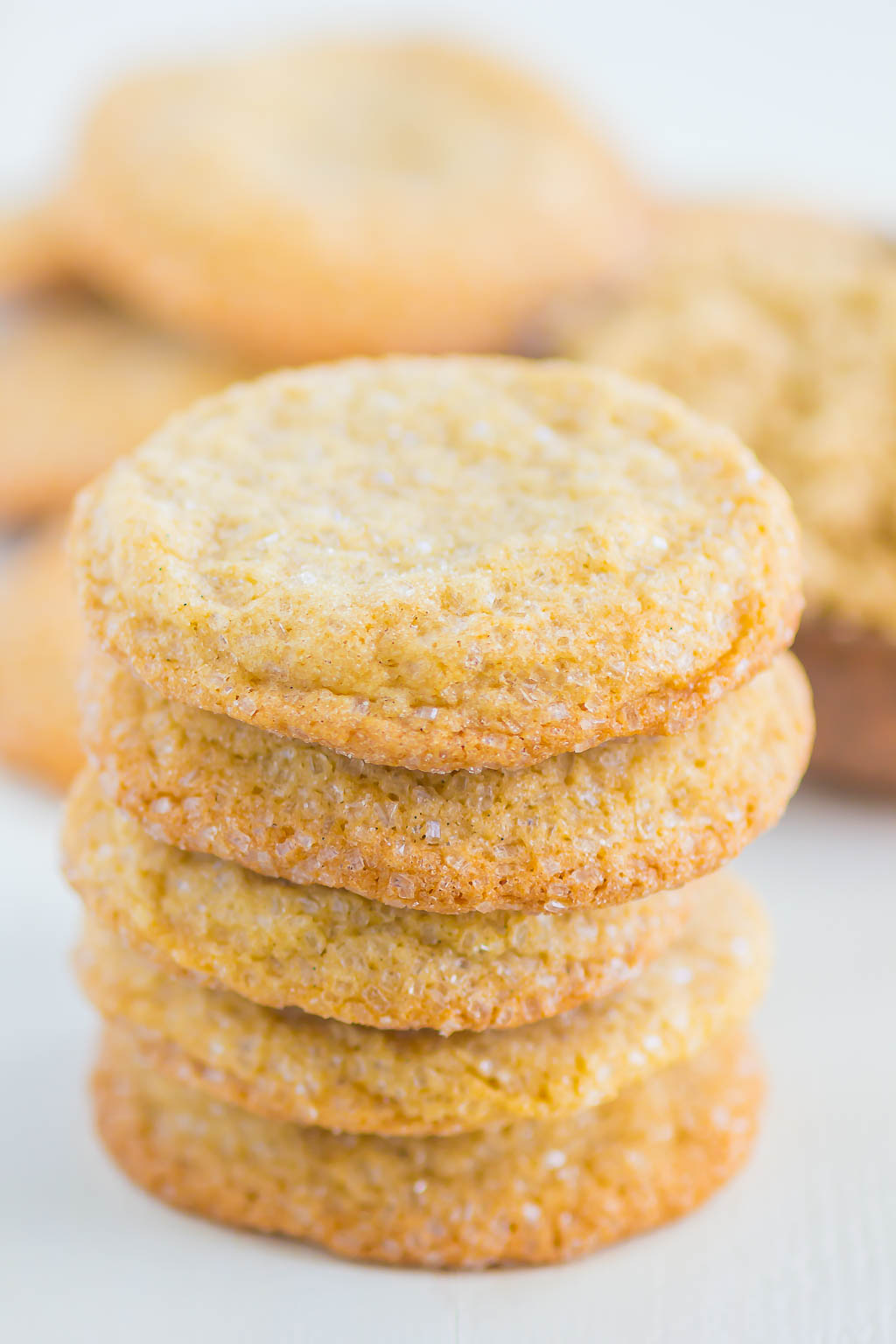 A stack of brown sugar sugar cookies.