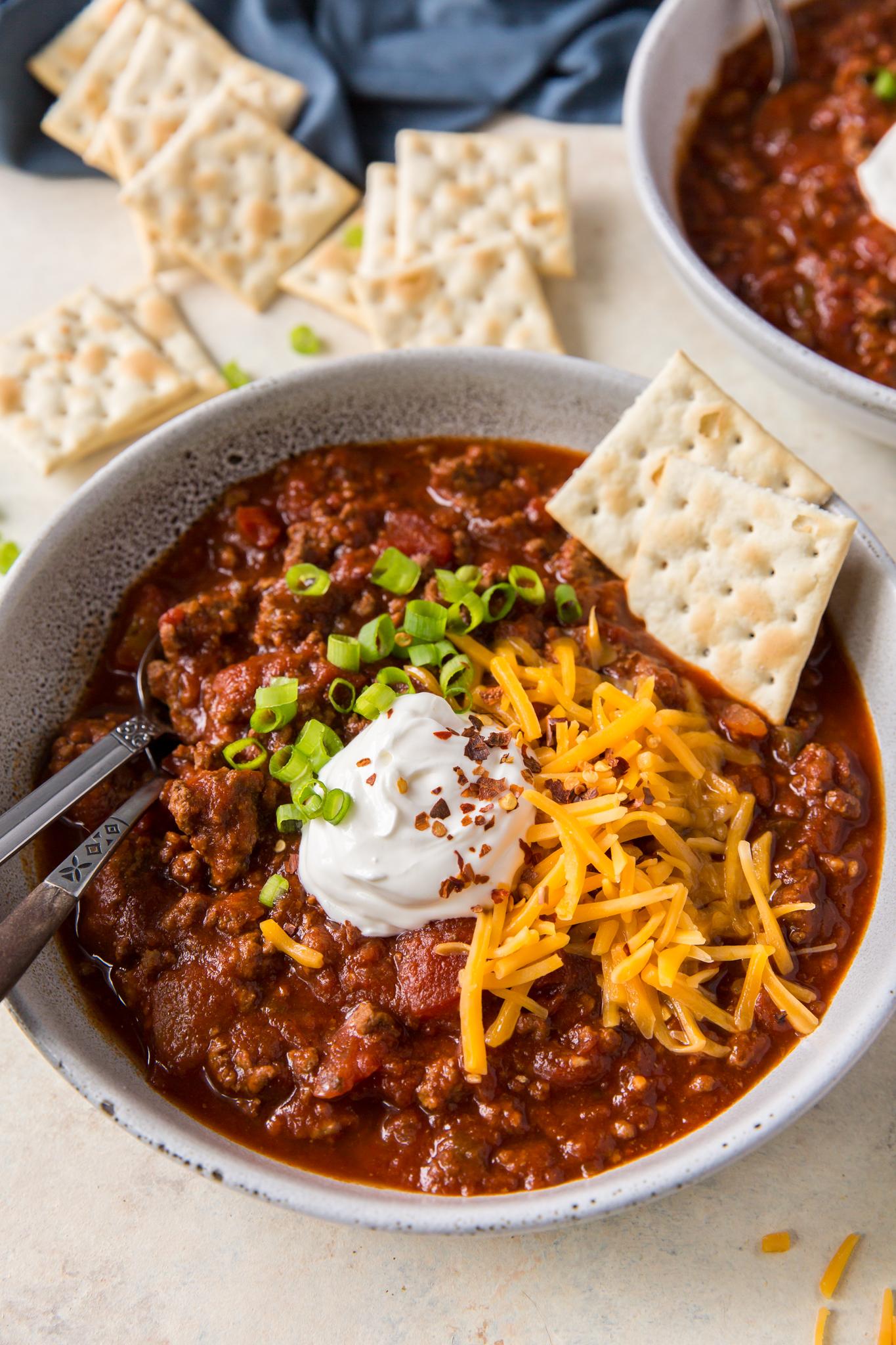 Slow Cooker No Bean Chili