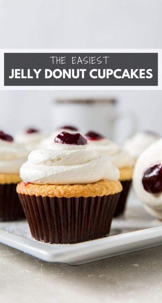 Jelly Donut Cupcakes