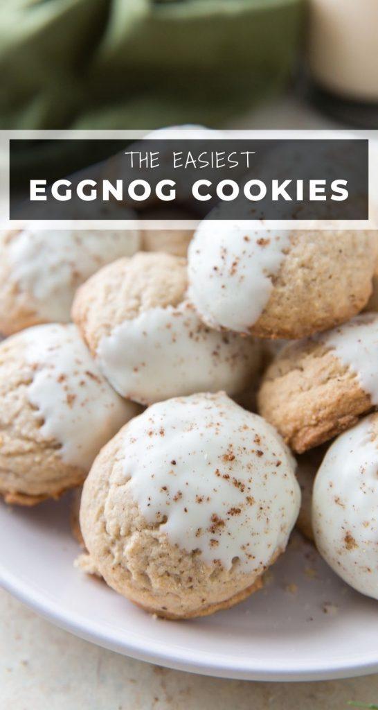 White Chocolate Eggnog Cookies