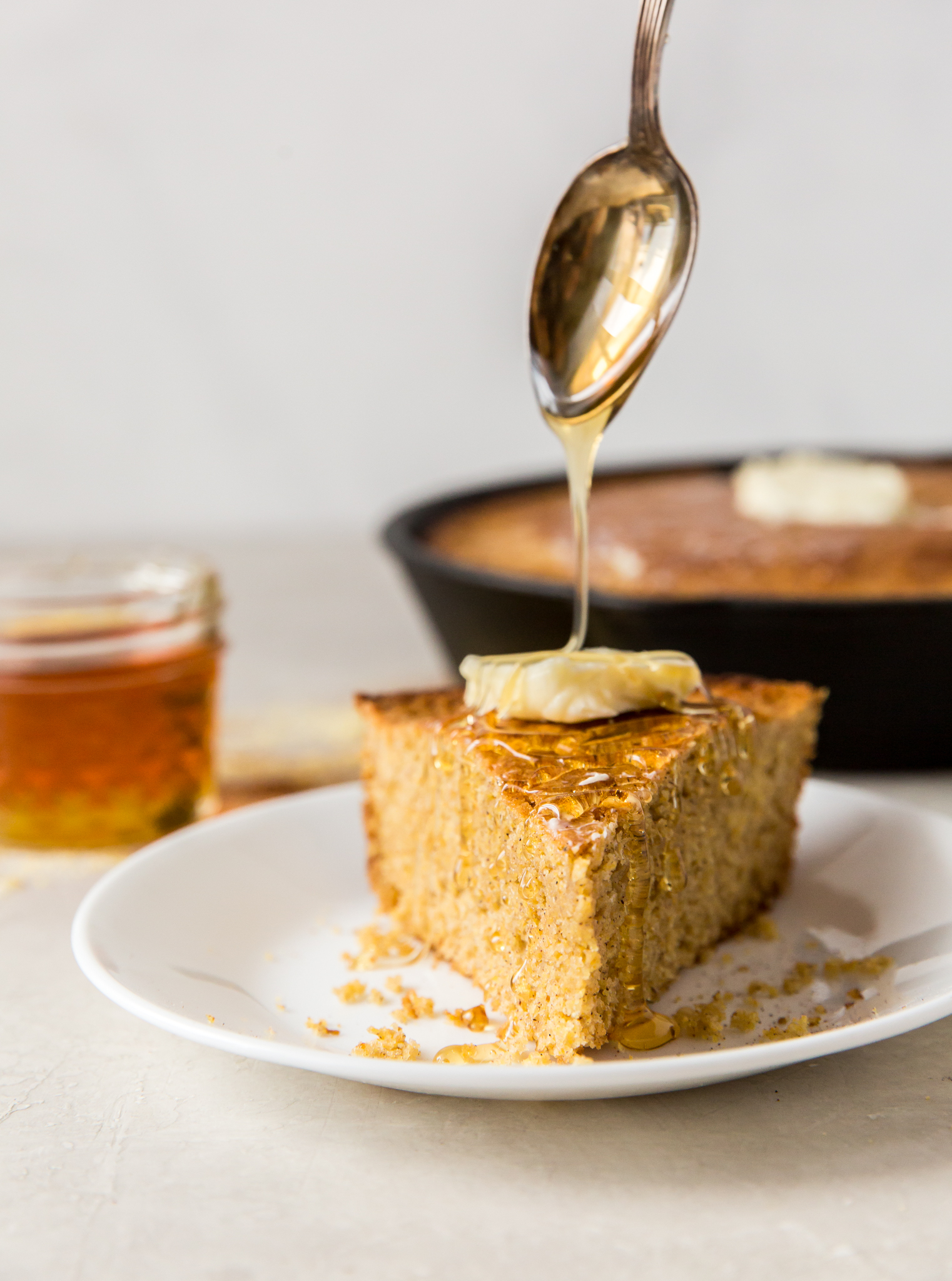 Skillet Honey Cornbread