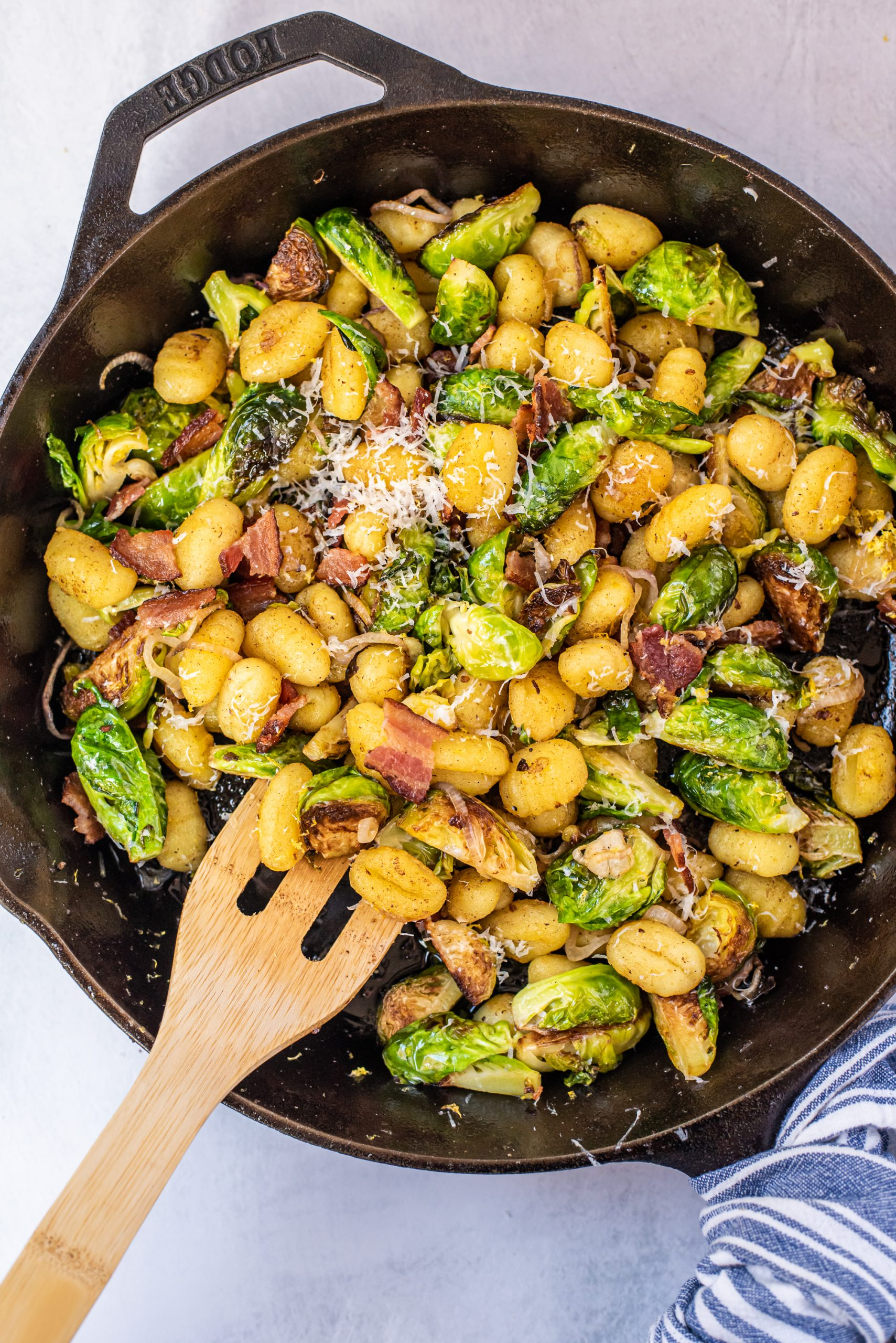 Skillet Gnocchi with Brussels Sprouts