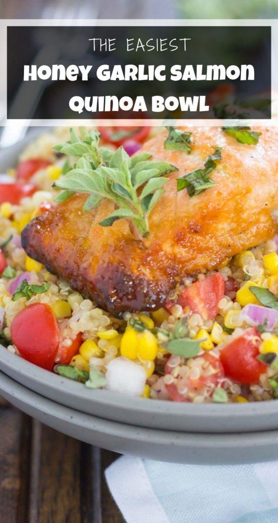 Honey Garlic Salmon Quinoa Bowl
