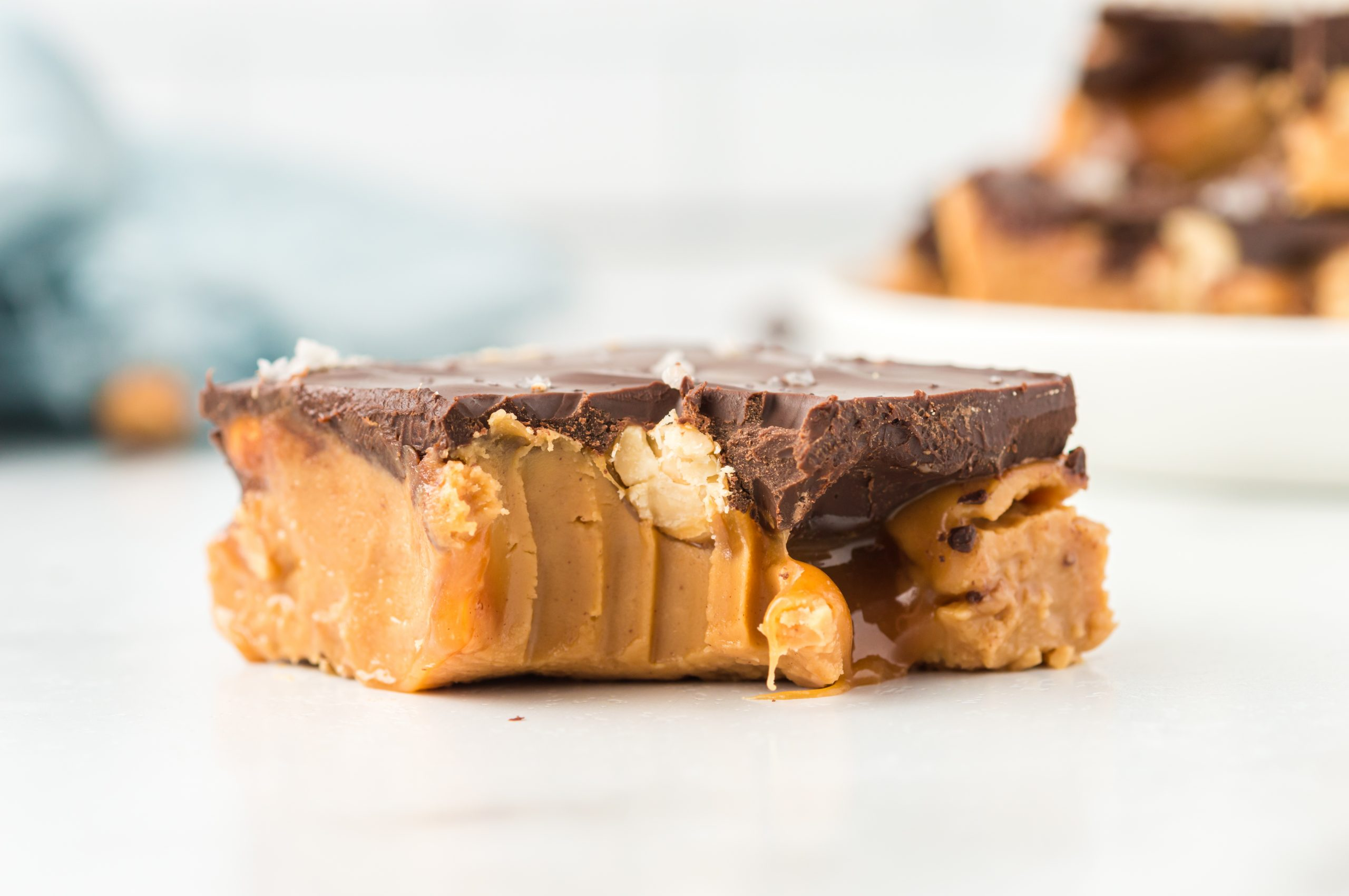 No Bake Snickers Peanut Butter Bars