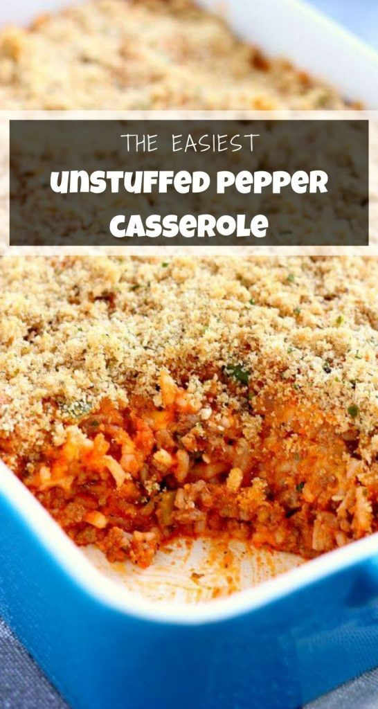 Unstuffed Pepper Casserole