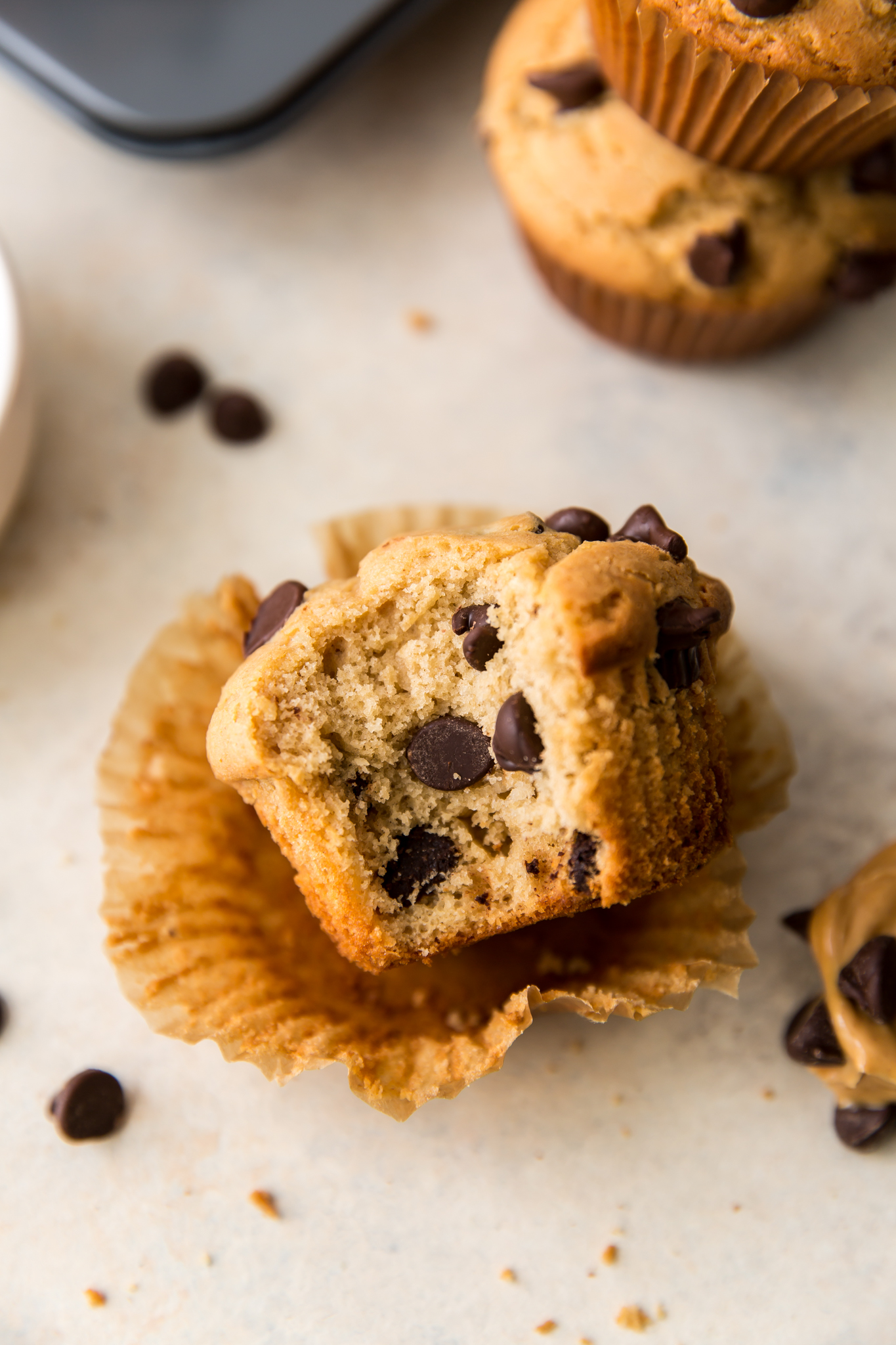 bite out of muffin