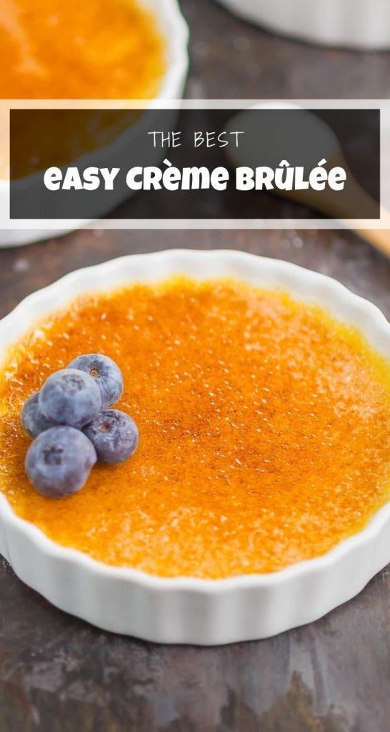 creme brulee in a white ramekin