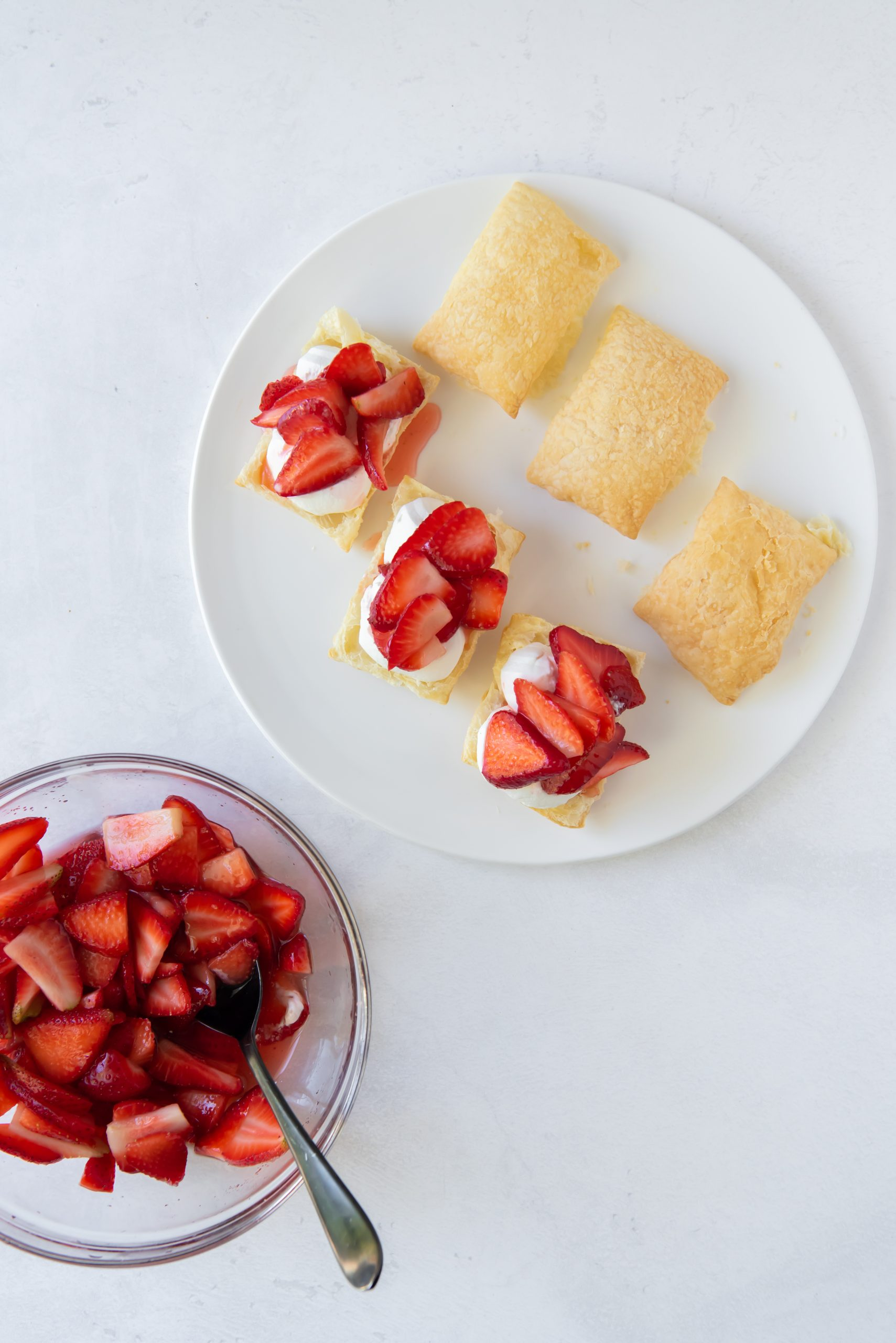shortcakes on a white plate