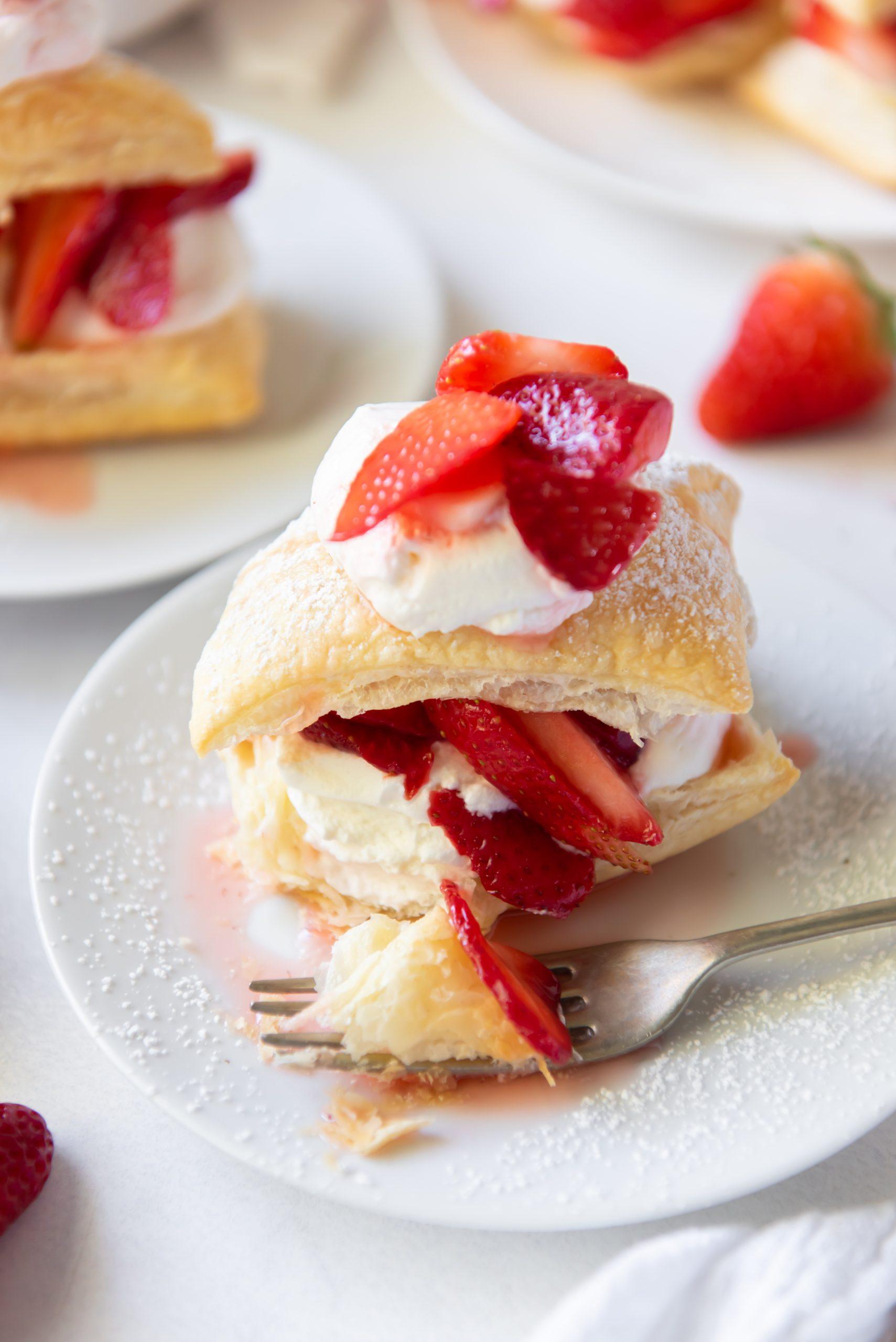 shortcake on a white plate